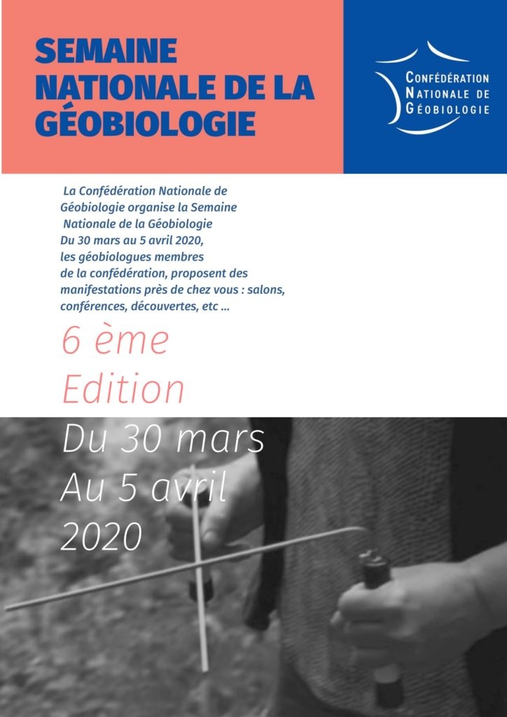 affiche semaine nationale geobiologie 2020 CNG